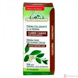 Crema Colorante a la Henna Castano · Corpore Sano · 60 ml