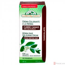 Crema Colorante a la Henna Chocolate · Corpore Sano · 60 ml