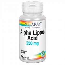 Acido Alfa Lipoico 250 mg · Solaray · 60 Capsulas