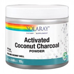 Charcoal Coconut Activated · Solaray · 75 Gramos