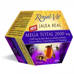 Jalea Real Mega Total 2000 Royal Vit · Dietisa · 20 Viales