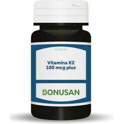 Vitamina K2 100 mcg Plus · Bonusan · 60 tabletas