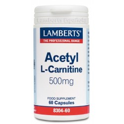 Acetil L-Carnitina 500 mg · Lamberts · 60 caps