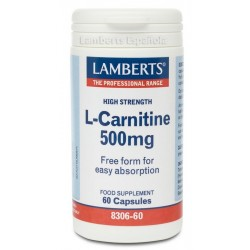 L-Carnitina 500 mg · Lamberts · 60 caps